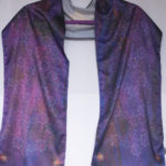 Jewish Star of David Purple Prayer Shawl, 10 x 60 inches.
